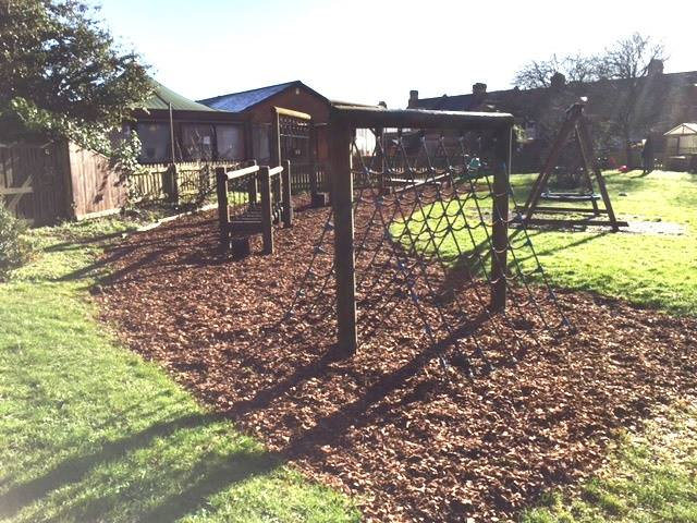 Climbing Frame in the grounds of the nursery